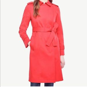 NWT Bright red orange trench coat